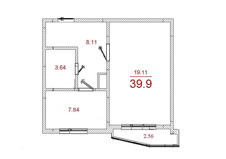 Сколько квадратных метров балкон в доме п44т.